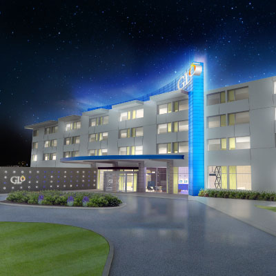 GLo Exterior Rendering Night