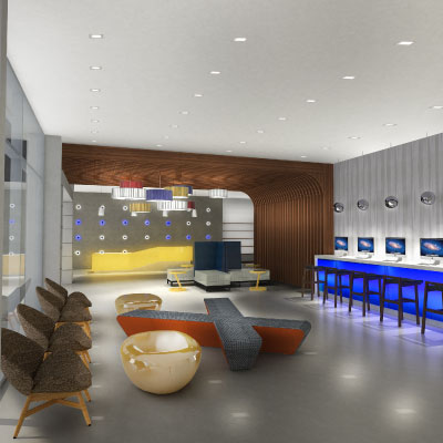 lobby and business bar